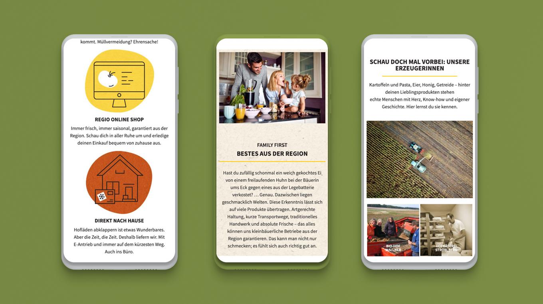 Mobile Webdesign Regio Delivery