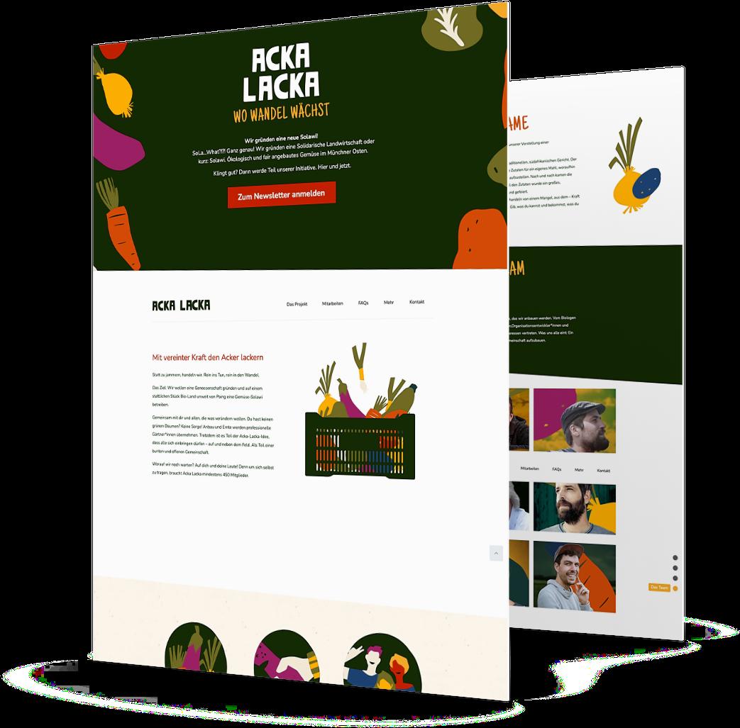Webdesign 2 Acka Lacka